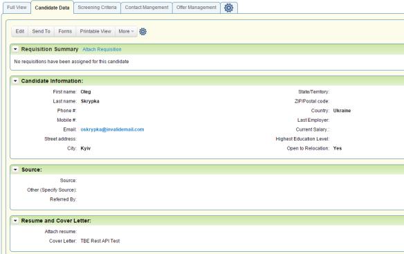 Taleo Business Edition REST API Overview | HCM Cloud Hub